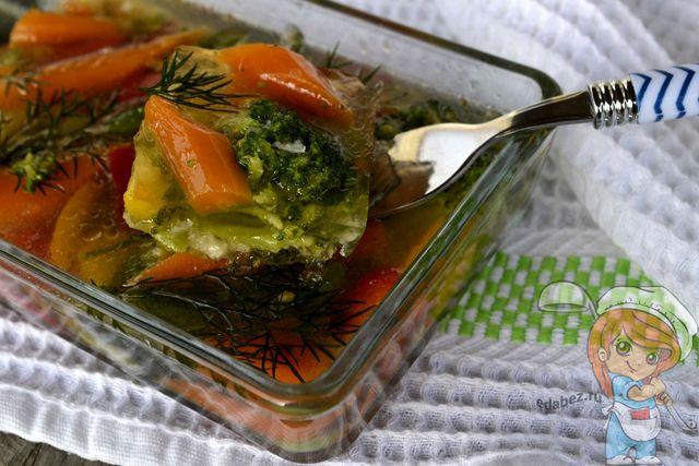 Заливное из овощей - рецепт с фото