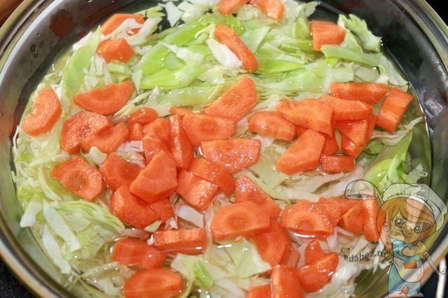 Капуста с морковью в воде