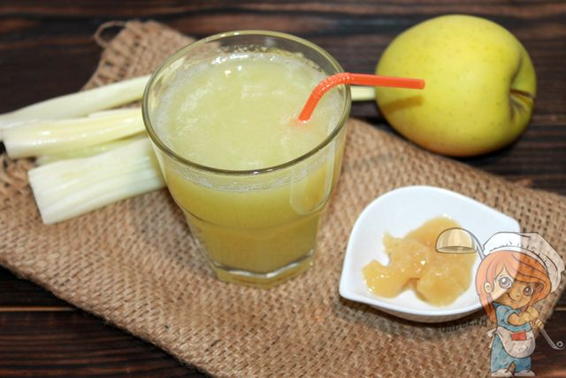 Яблочно сельдереевый фреш - рецепт по шагам