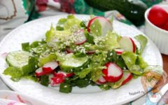 Салат из ботвы редиса - пошаговый рецепт