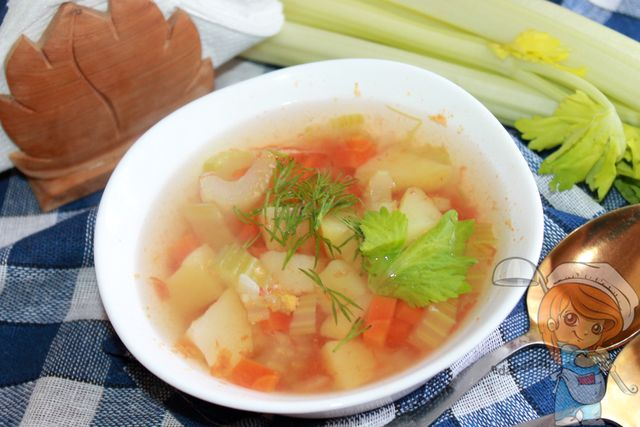 Вкусный овощной суп из сельдерея - рецепт для похудения