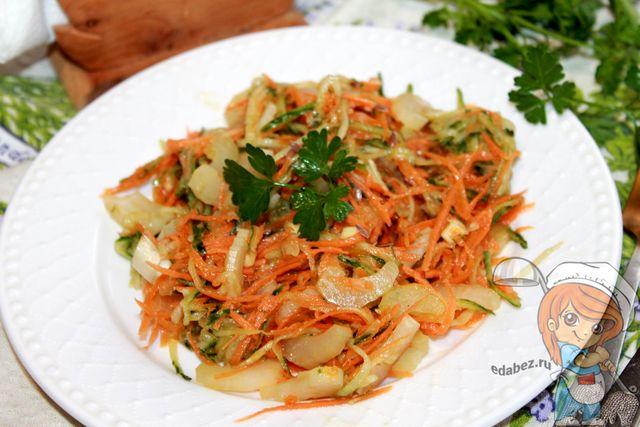 Салат из сельдерея по-корейски - простой вкусный рецепт