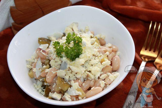 салат с фасолью и огурцом - рецепт с фото
