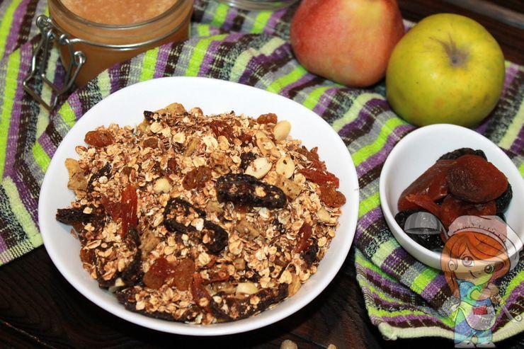 Гранола с орехами, домашний рецепт