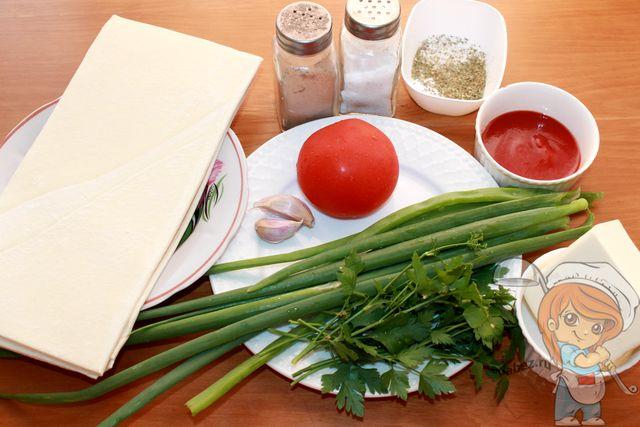 Продукты для кальцоне с сыром