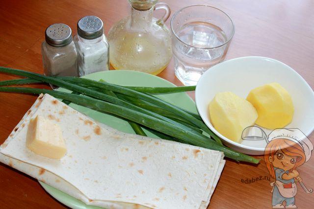 Ингредиенты для пиде с сыром и картофелем