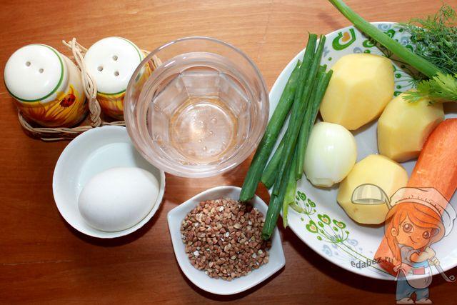 Ингредиенты для супа затирки