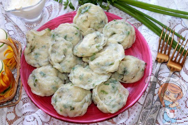 Зеленые пельмени рецепт без мяса