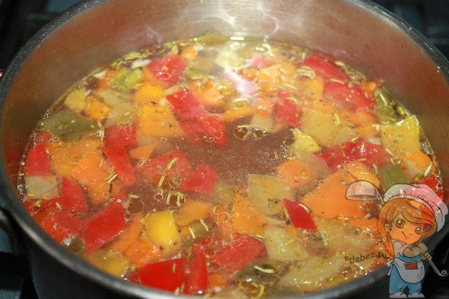Овощной суп с болгарским перцем - пошаговый рецепт с фото