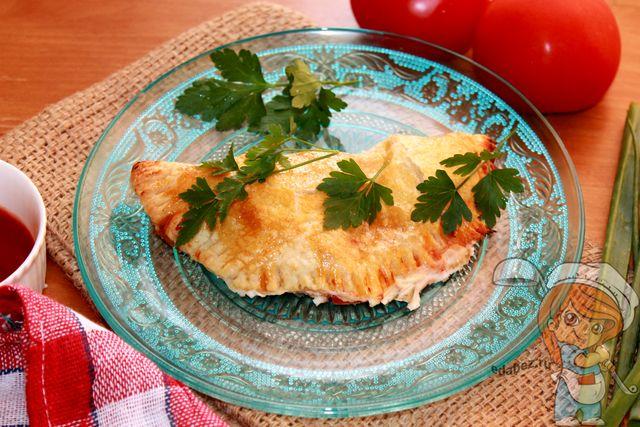 Пицца кальцоне с сыром - пошаговый рецепт с фото