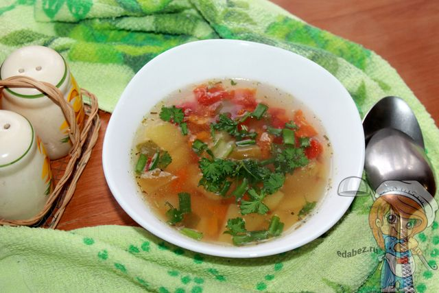 Суп с болгарским перцем: рецепт вкусного овощного супа