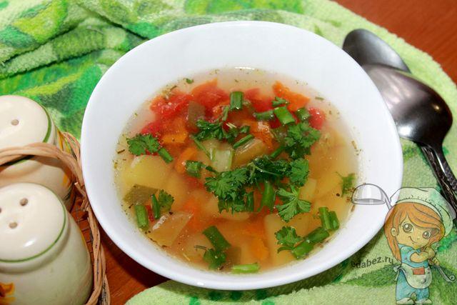 Суп с болгарским перцем без мяса