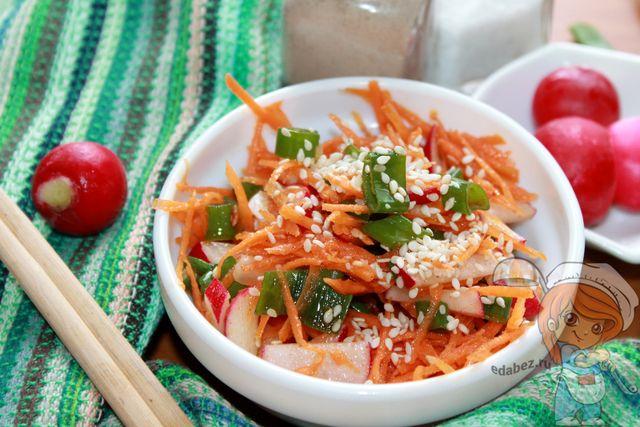 Салат редиска по-корейски