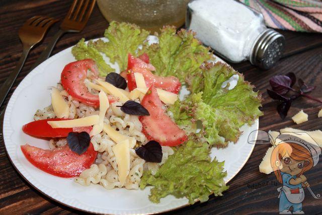 Итальянский салат с макаронами