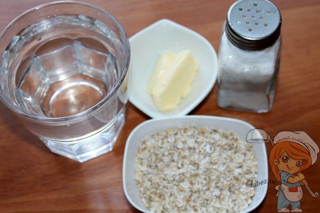 Продукты для овссяного супа-пюре