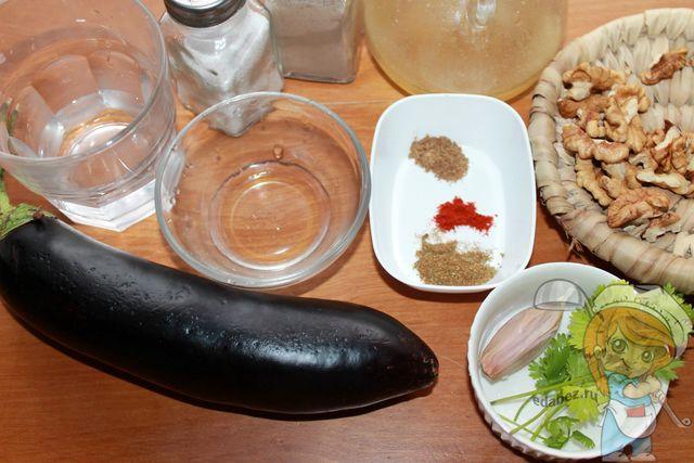 Продукты для ореховых рулетиков