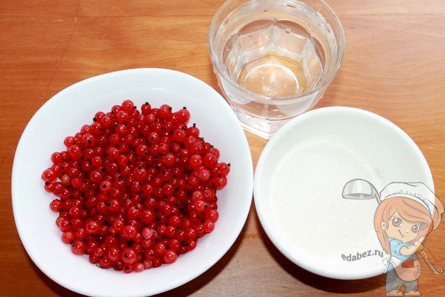 Ингредиенты для морса из красной смородины