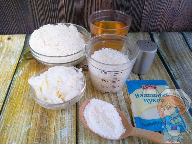 Продукты для приготовления кокосового печенья