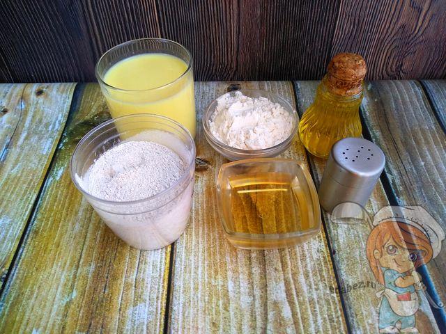 Продукты для выпечки кукурузных оладьев