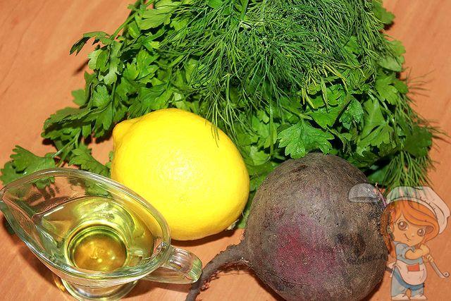 Продукты для салата со свеклой