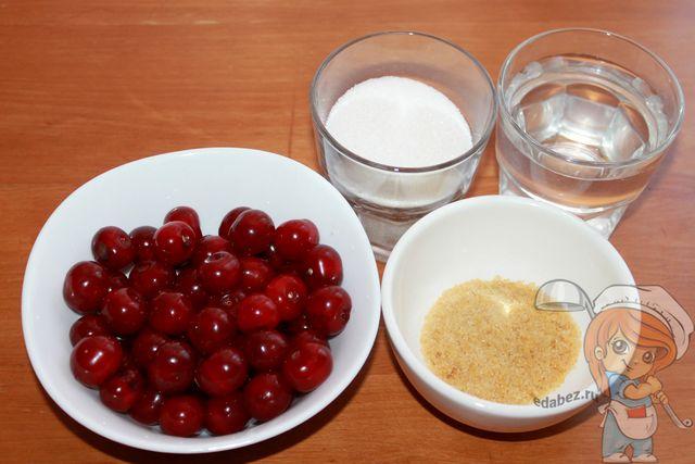 Продукты для желе из вишни