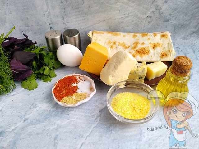 Ингредиенты для сырных палочек