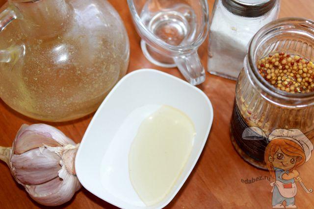 Ингредиенты для заправки с французской горчицей