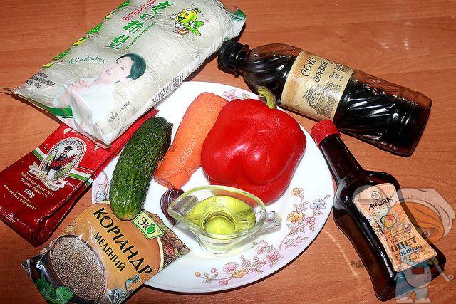 Продукты для салата по-корейски
