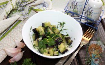 маринованные баклажаны с чесноком быстрый рецепт