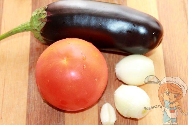 моем овощи и чистим лук с чесноком