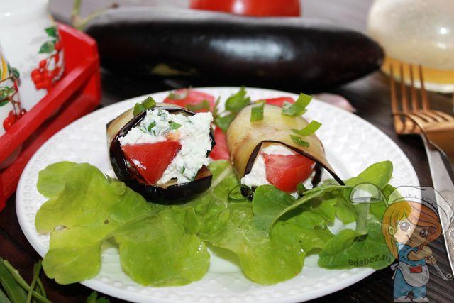 закуска из баклажанов, помидоров и чеснока