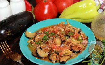 Баклажаны в томатном соусе - пошаговый рецепт с фото