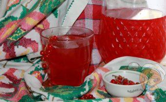 Морс из красной смородины - рецепт с фото