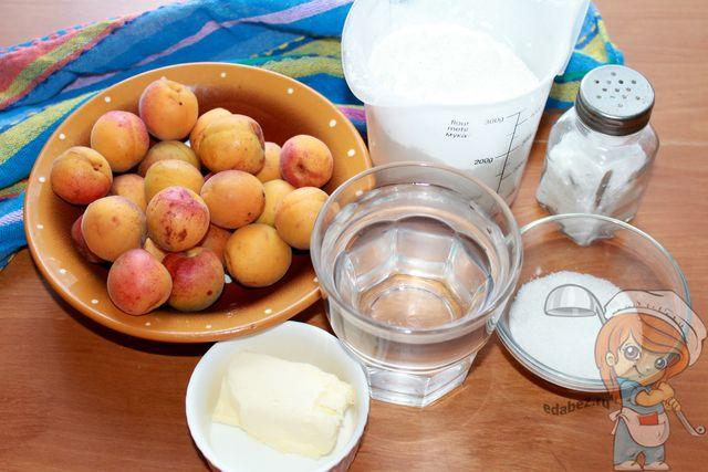 Продукты для вареников с начинкой из абрикосов