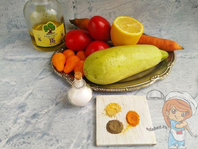 Продукты для спагетти из кабачков