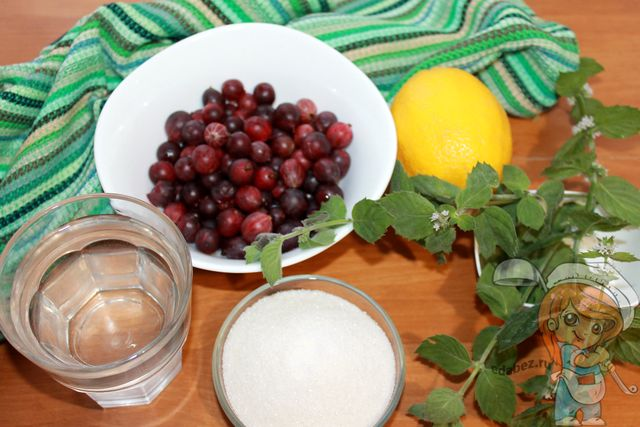 Ингредиенты для мохито на зиму