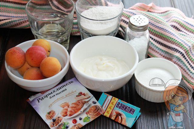 Продукты для кексов с абрикосами