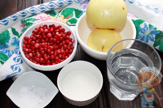 Продукты для заготовки брусники на зиму
