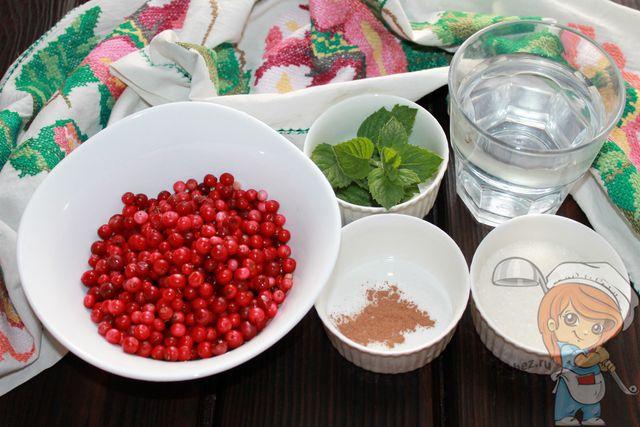 Ингредиенты для брусничного компота