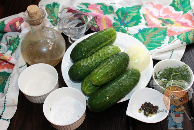Продукты для нежинского салата