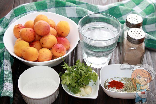 Продукты для абрикосового ткемали