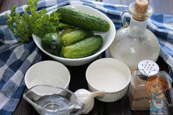 Продукты для заготовки салата