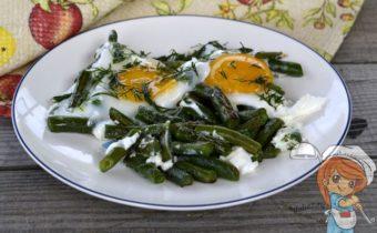 яйца с фасолью стручковой, рецепт с фото