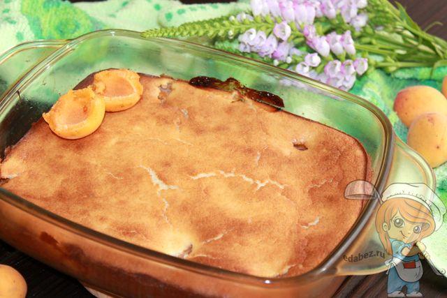 Охлаждаем запеканку с абрикосами