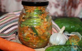 Салат огурцы по-корейски на зиму, рецепт