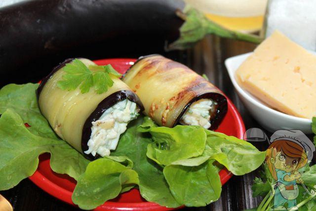 Баклажаны, рецепты рулетиков с сыром