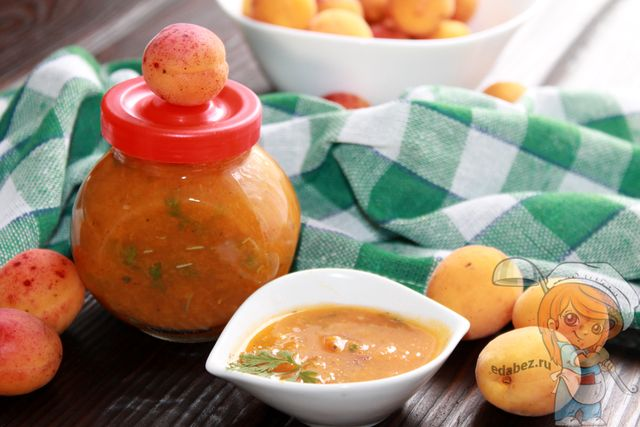 Ткемали из абрикосов, рецепт на зиму