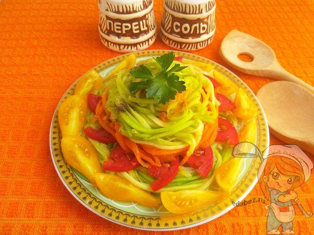 Кабачковые спагетти, рецепт с фото