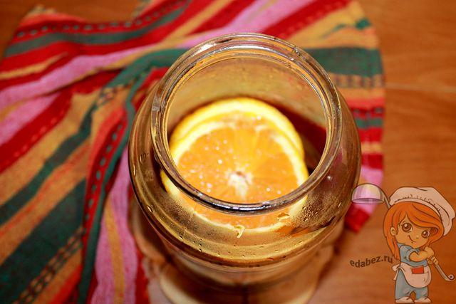 Укладываем апельсинки