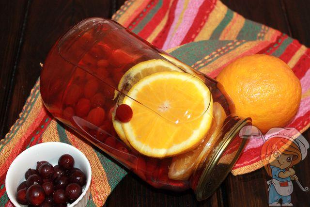 Компот из крыжовника с апельсином, рецепт с фото